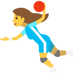 Woman Playing Handball on Skype Emoticons 1.2