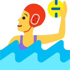 Woman Playing Water Polo on Skype Emoticons 1.2