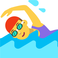 Woman Swimming on Skype Emoticons 1.2