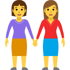 Women Holding Hands on Skype Emoticons 1.2