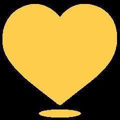 Yellow Heart on Skype Emoticons 1.2